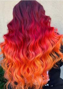 Orange Red Hair Color Shades in 2021