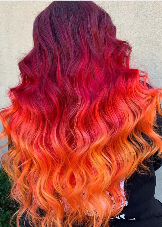 Hottest Orange Red Hair Color Shades for 2019