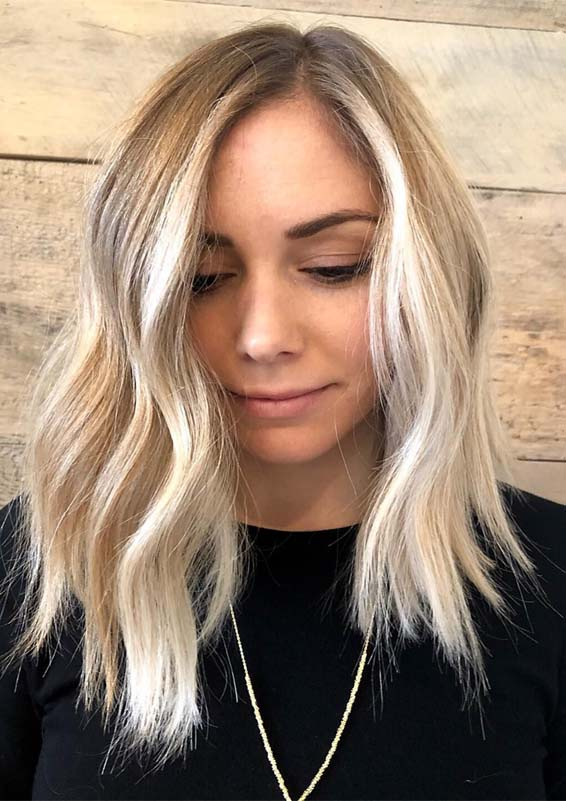 Unforgettable Blonde Lob Styles for Ladies in 2019