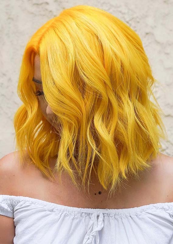 Awesome Yellow Hair Color Ideas & Shades for 2019