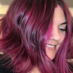 Berry Ombre Hair Color Ideas for 2021