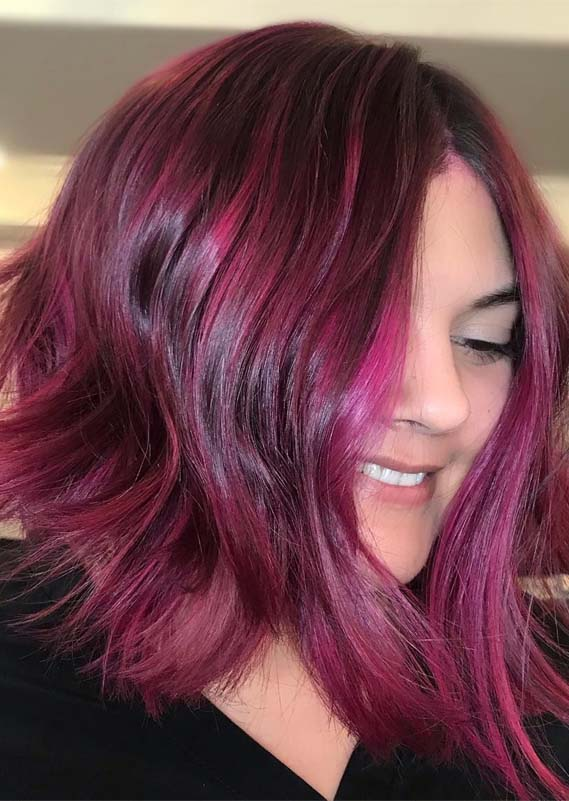Fabulous Berry Ombre Hair Color Ideas for Every Woman in 2021