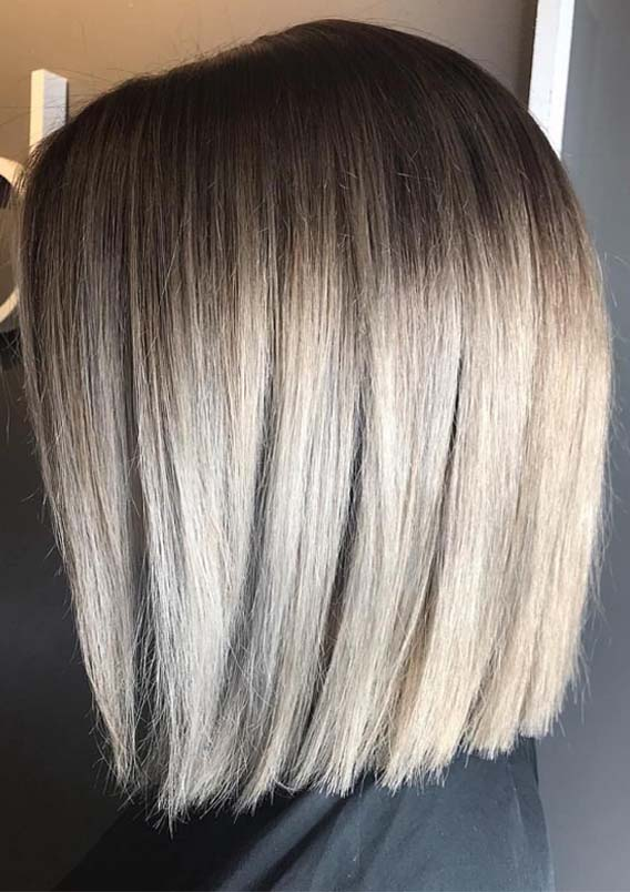 Adorable Blunt Blonde Bob Haircuts & Hairstyles for 2019