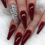 Coffin Glitter Nail Designs & Images for 2019