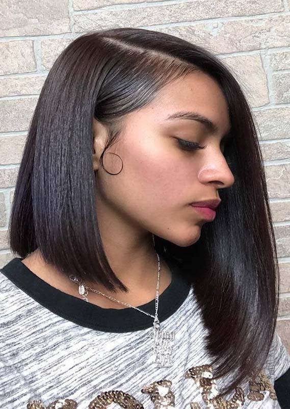Dramatic A-Line Bob Haircuts for Black Women 2019