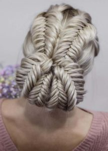 Dutch Fishtail Braids for Updo Hairstyles for 2021