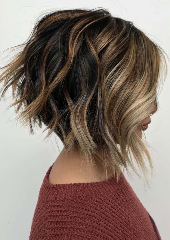 Fantastic Angled Bob Haircut Styles for Ladies in 2019