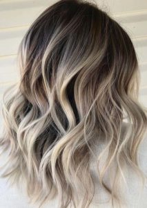 Long Layered Blonde Haircuts with Dark Roost in 2019
