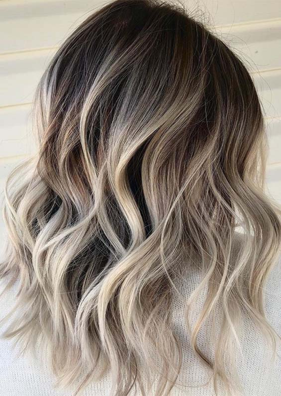 Awesome Long Layered Blonde Haircuts with Dark Roost in 2019