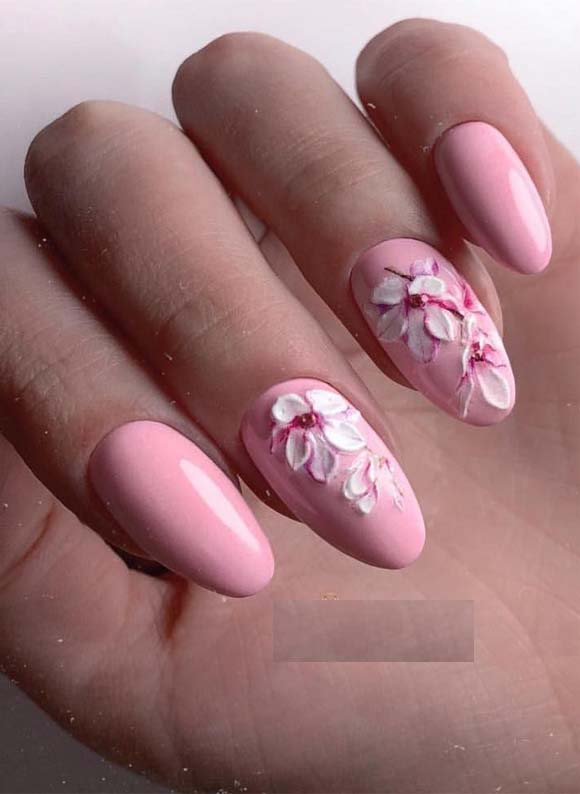 Amazing Modern Designs Of Pink Nail Arts for Women in 2019