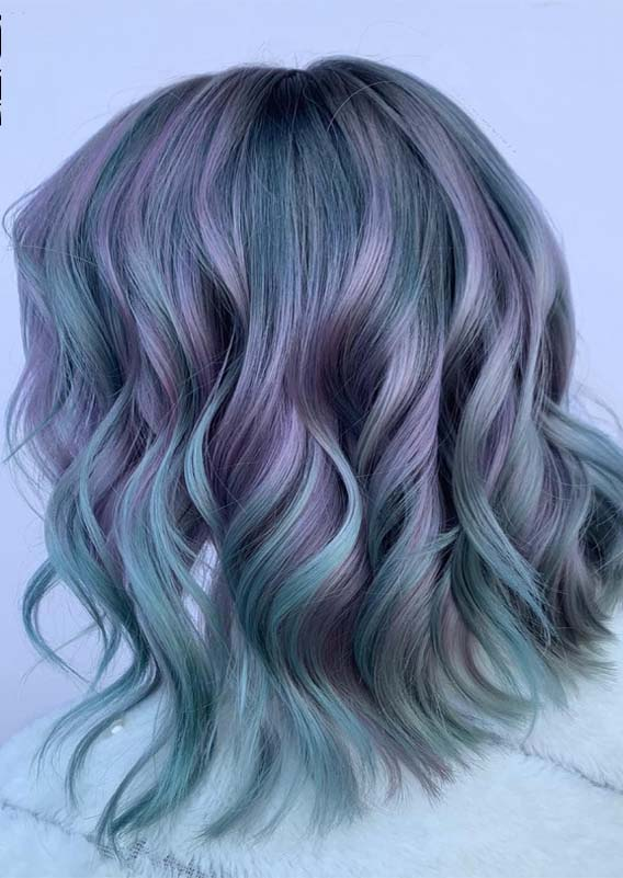 Stunning Pastel Balayage Hair Color Ideas & Shades for 2021