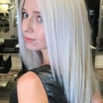 Platinum Ice Blonde Long Sleek Hairstyles for 2021