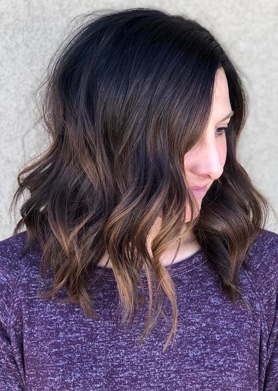 Unique Textured Lob Haircuts for Women to Show Off in 2019