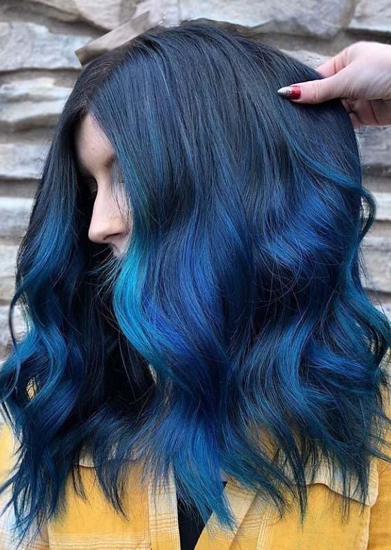 Fantastic Blue Hair Color Ideas & Shades for Women 2019