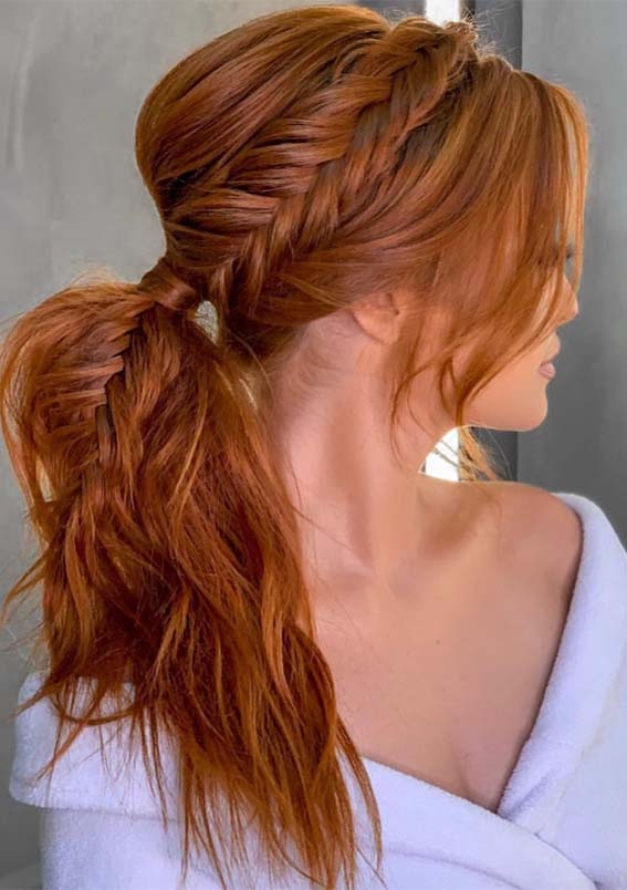 Fantastic Braided Ponytail Hairstyles Ideas to Wear in 2021