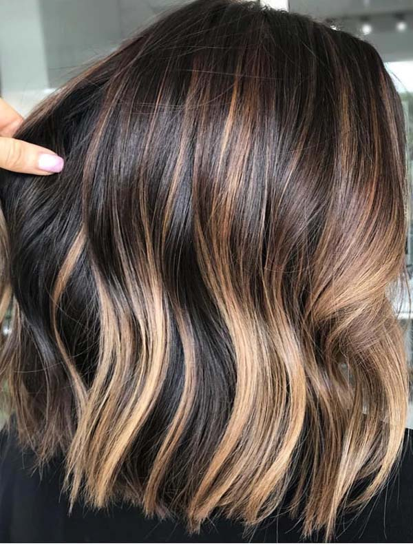 Unique Brunette Balayage Hair Color Shades for Ladies in 2021