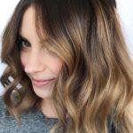 Caramel Balayage on Dark Brown Hair in 2021