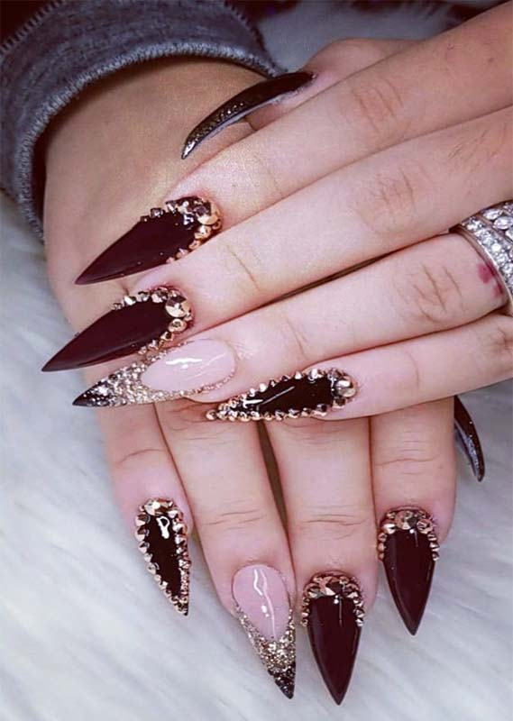 Creative Acrylic Nail Designs & Images You Must Try in 2021