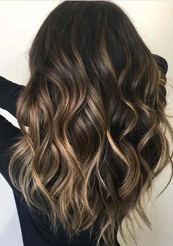 Modern Dark Chocolate Hair Color Blends for Women 2019