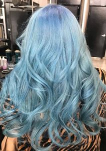 Fantastic Baby Blue Hair Colors for Long Waves Looks in 2019