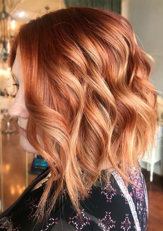 Hottest Ginger Red Hair Colors & Hairstyles to Wear in 2019