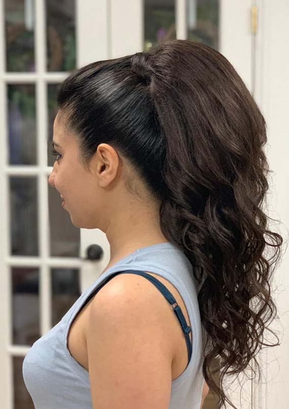 Gorgeous High Ponytail Hairstyles & Images to Wear in 2021