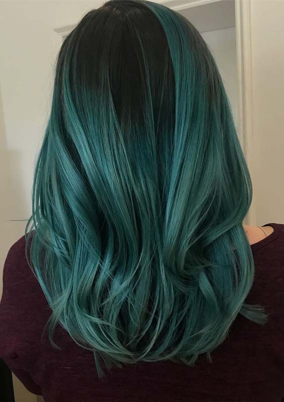 Gorgeous Green Hair Color Highlights for Modern Look in 2019 ...