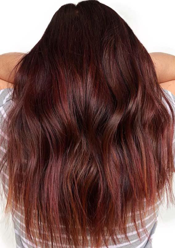 Hottest Burgundy Hair Color Ideas & Shades in Year 2019