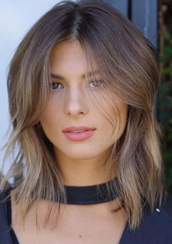Glorious Layered Lob Haircuts For Fine Hair in 2021