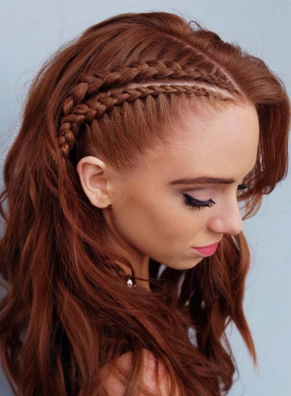 Gorgeous Natural Redhead Braided Hairstyles for 2019