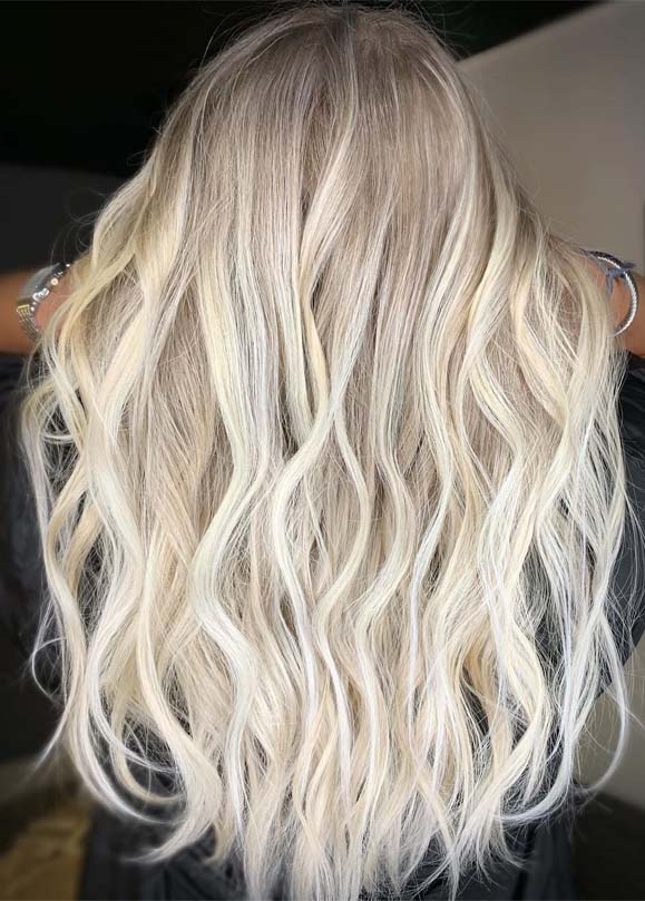 Blonde Hair Highlights For Long Waves