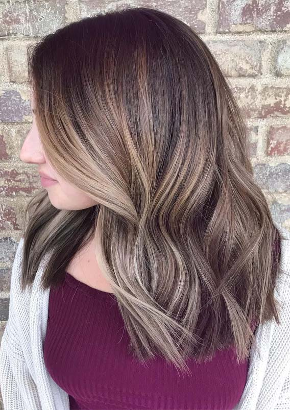 Unique Darker Lob with Dimensions of Textured Cut for 2019
