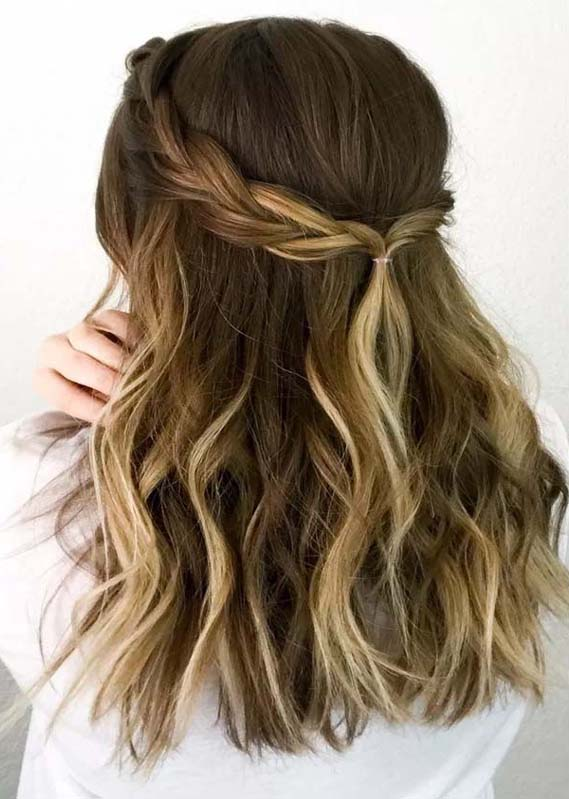 Gorgeous Easy Half up Twisted Braided Hairstyles for 2021
