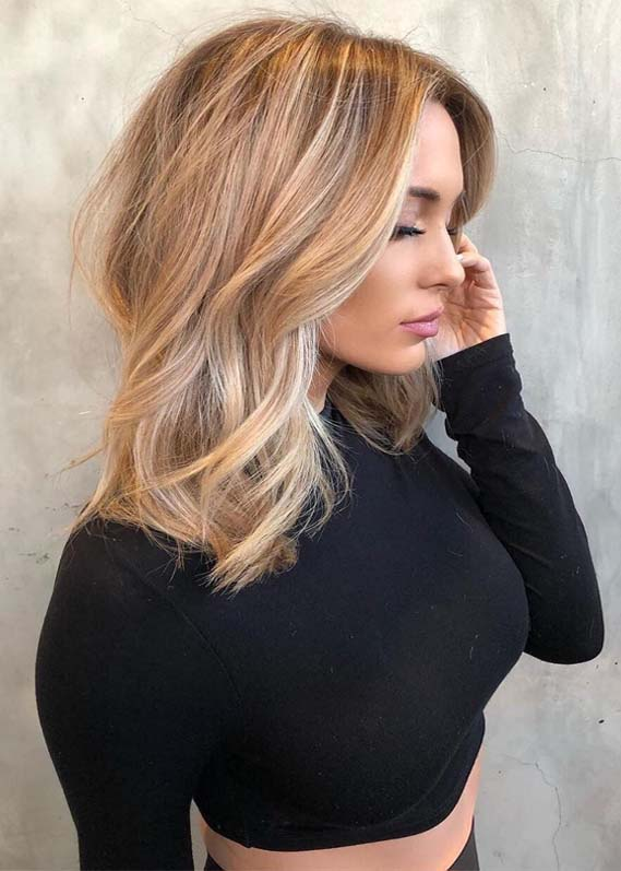 Pretty Balayage Blonde Hair Colors & Highlights for 2019