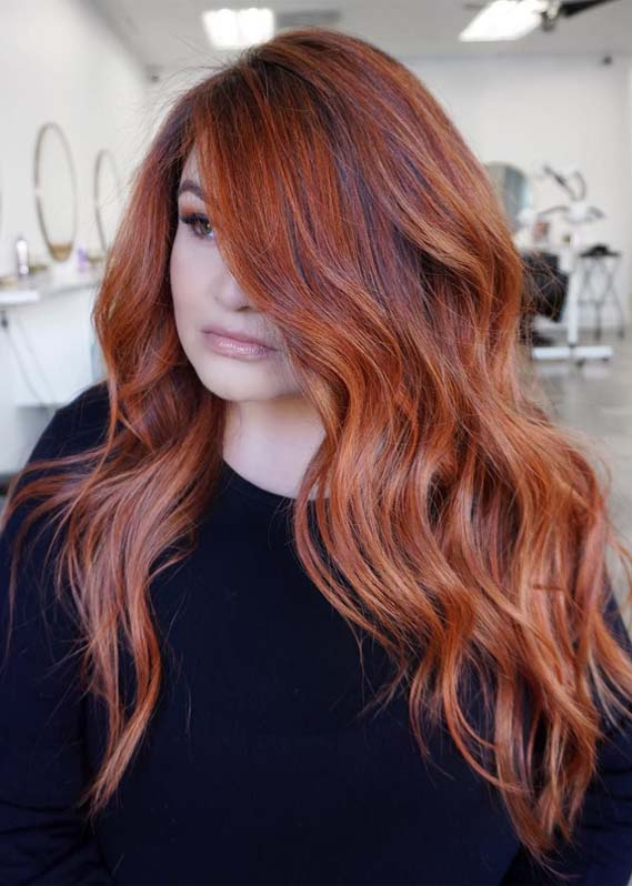 Hottest Red Copper Hair Color Shades to Create in 2019