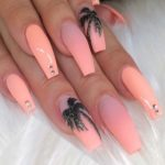 Incredible Gel Pink Acrylic Coffin Nails in 2021