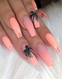 Incredible Gel Pink Acrylic Coffin Nails in 2019