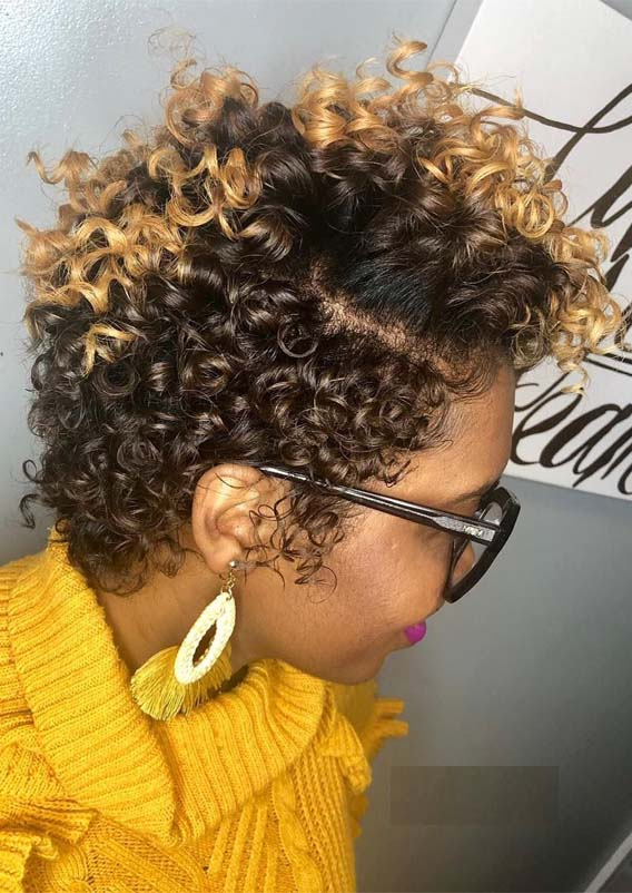 Best Natural Short Curly Hairstyles for Black Women in 2019