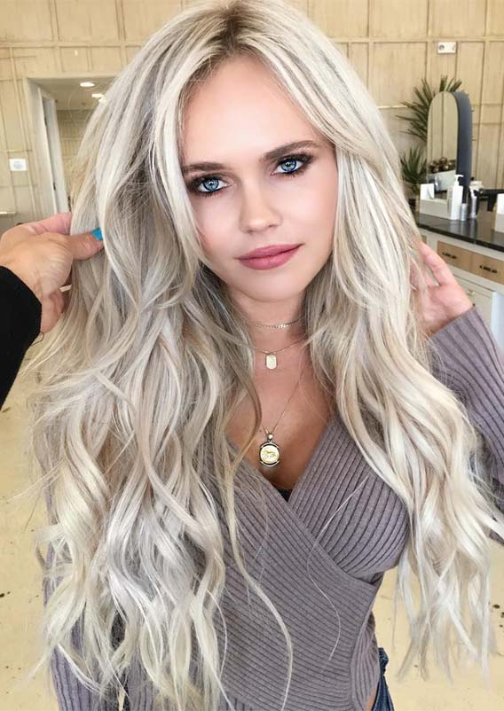 Obsessed Ice Blonde Hair Colors Highlights for Women in 2019