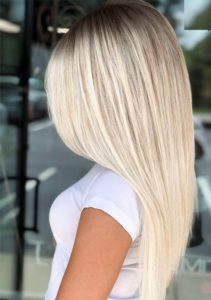 Platinum Balayage Sleek Straight Hairstyles for 2021