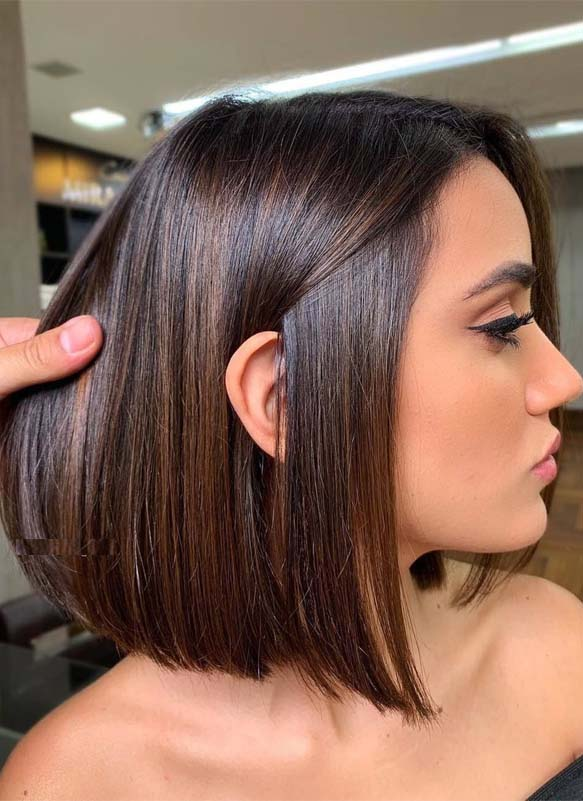 Pretty Brunette Bob Haircuts & Hairstyles for Girls in 2019