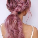 Pretty Pink Braids for Long Hair in 2021