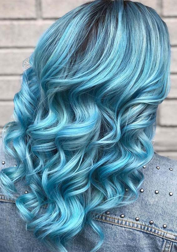 Unique Pulpriot Blue Hair Colors & Hairstyles Ideas for 2019