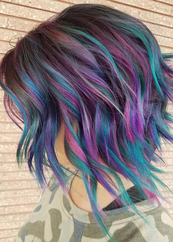 Awesome Pulp Riot Colored Short Textured Bob Cuts in 2021