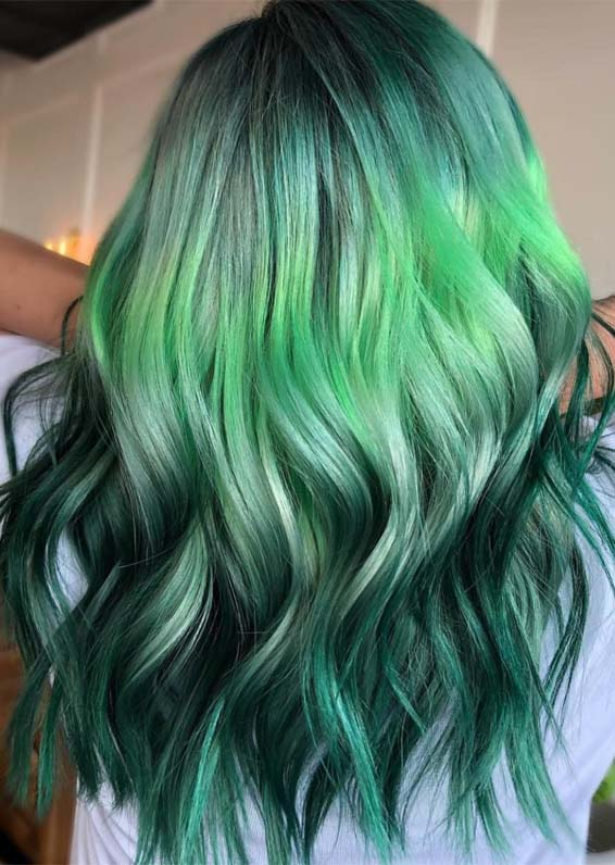 Awesome Pulpriot Green Hair Color Shades for Perfect Look in 2019