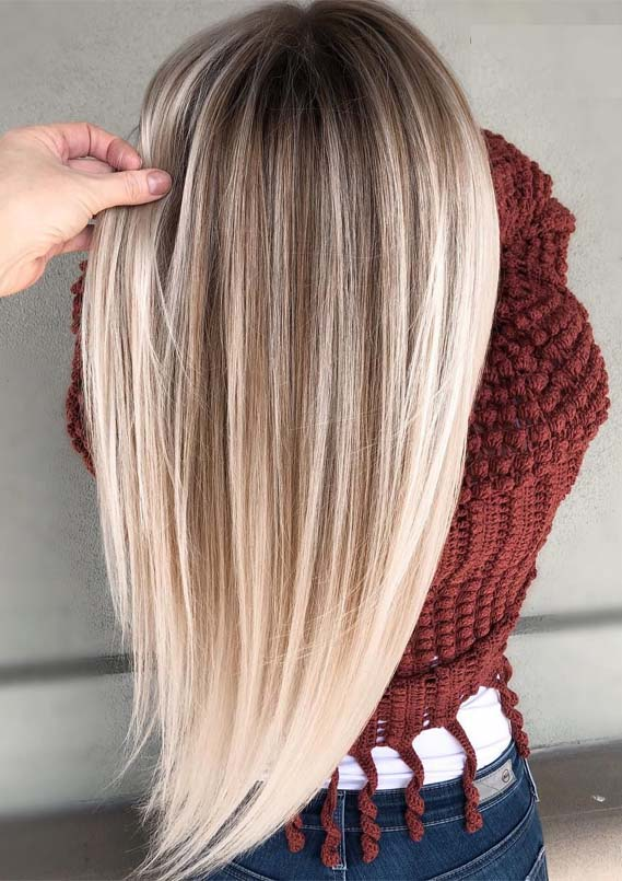 Best Rooted Blond Balayage Hair Colors for Long Hair in 2019