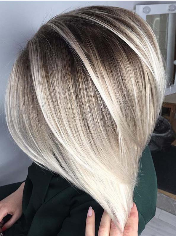 Sensational Shadow Rooted Blonde Bob Cuts in Year 2019