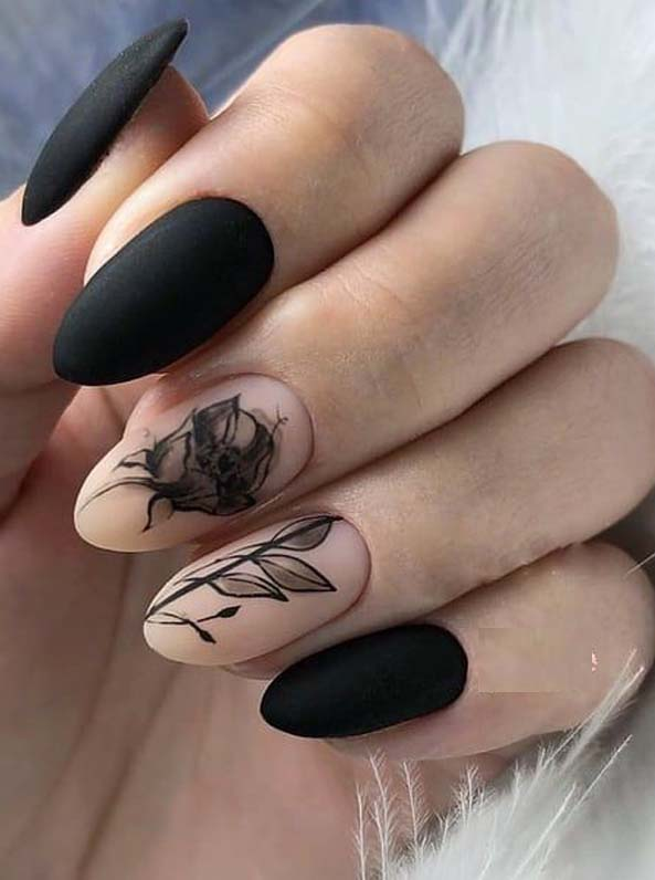 Cutest Black Nail Arts & Images for Bold Women in 2019