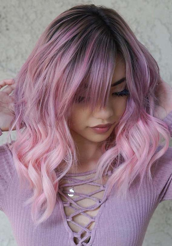 Gorgeous Dreamy Pink & Lavender Hair Color Ideas for 2019