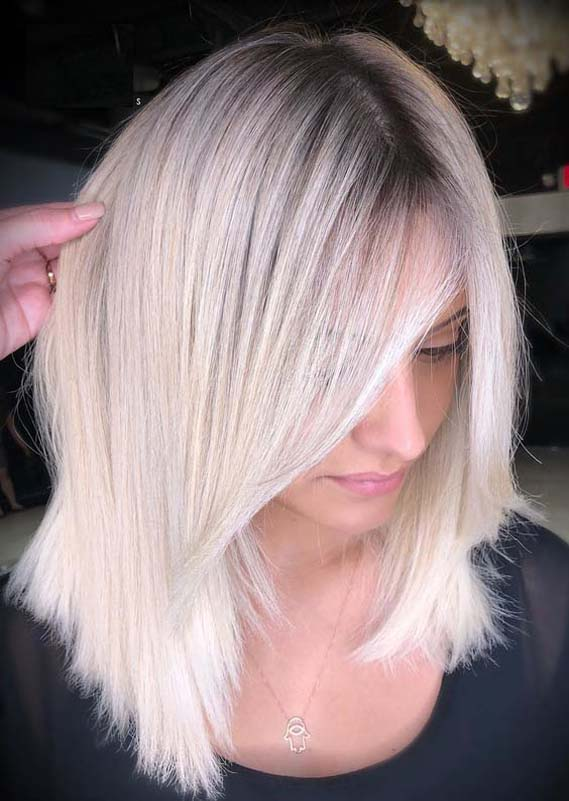 Favorite Ice Blonde Hair Colors & Hairstyles Trends in 2019
